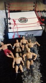 kids wrestling ring and figures
