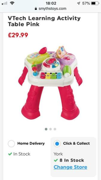 V-Tech Discovery Table and Mega Blocks First Builders and Minnie Mouse Shape Sorter-PINK for sale  York, North Yorkshire