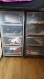 4 rack drawers plastic wilkinson. Can be used in the bed rooms kitchens etc