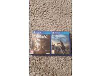 Ps4 fallout 4 and final fantasy 15