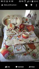Mamas and Papas jamboree unisex nursery baby bedding bundle