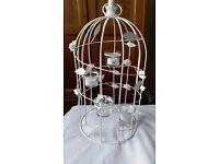 Vintage Style Birdcage with LED Candles, wedding decoration