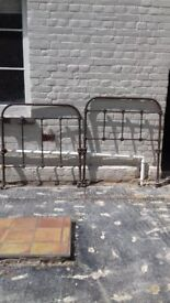 PRETTY RUSTIC BEDSTEAD ENDS. ALL ORIGINAL. NOW REDUCED!