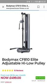Gym equipment (squat rack/ cable pulley machine/heavy duty bench + others)