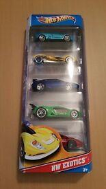 5 Lotus Hot Wheels Cars + 1 Lotus Elise model Car + 1 Lotus Matchbox Europa Car