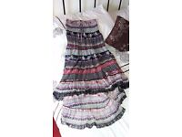 Multi-colour Gypsy Ruch-top Lace Dress Size Small