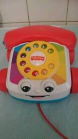 Fisher price pull along phone baby toy