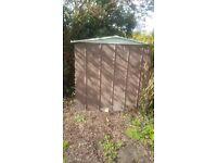 Watertight metal shed