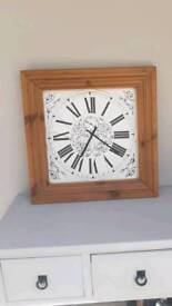 Large Wall clock with wood surround