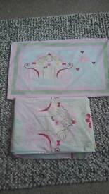 Princess single duvet cover set