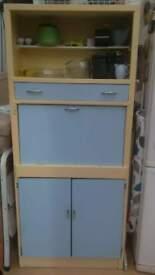 Vintage Blue/Cream Kitchen Dresser