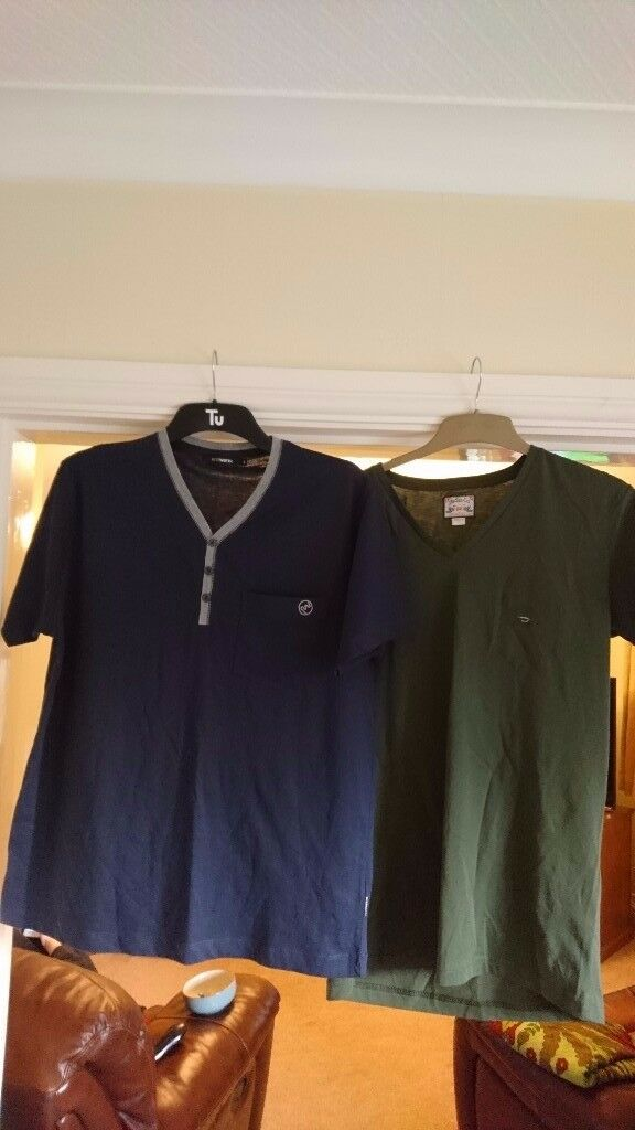All Brand New: 3 Men's named T Shirts, size large: Peter Werth, Diesel and Duck and Cover