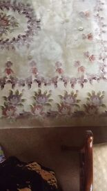 Large chinese rug, peach colour however it has faded but still look good oblong shape