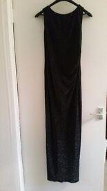 Black glittery boohoo dress size 12