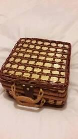 Wicker 4 piece picnic basket - brand new
