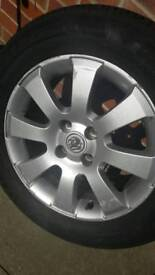 195/65 15 tyres on alloy wheels 4x100