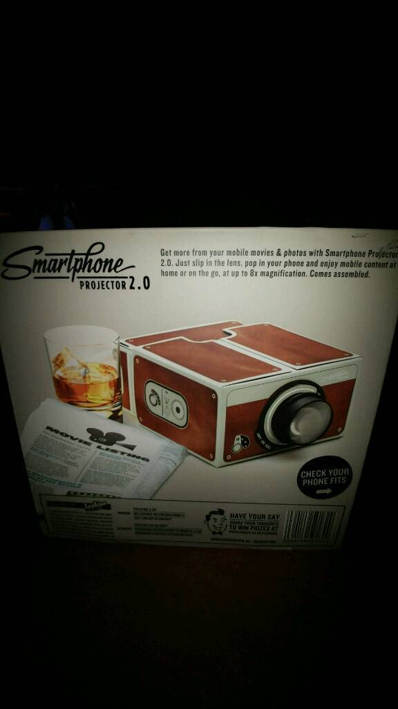Smartphone Projector 2.0Brownin Hull, East YorkshireGumtree - Smartphone Projector 2.0 Cinema In A Box Comes Read BuiltIn its original box and in excellent condition.Pick up only...Anlaby roadMessage only