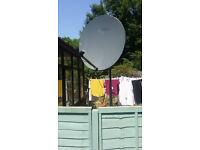 triax1.1meter satellite dish,technomate 2600 motor 4m scaffolding pipe,triax multilnbholder,switch