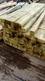 brand new 70mmx70mmx4.8m softwood posts