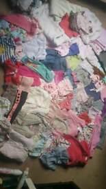 Baby girls 0-3 3-6m large clothes bundle