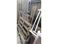 Free wood - pallets, old clothes airers, etc