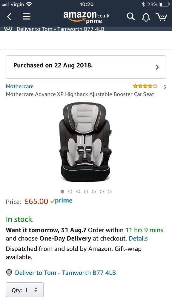 Mothercare Advance XP Car Seat