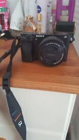 Sony a6000 camera with flip screen top of the range