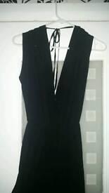 Black chiffon jumpsuit