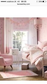 Girls Complete Bedroom Set by Laura Ashley. Duvet, curtains, lamps, rug etc