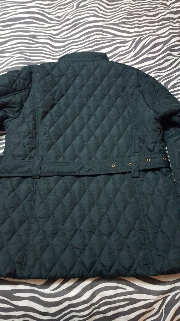 Bhs size 14 Green quilted jacket