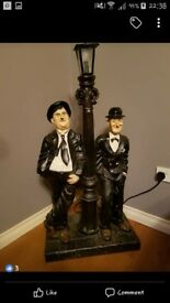 Large laurel and hardy lamp