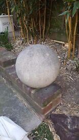 Round large garden ornament