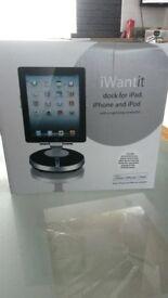 iphone I pad I pod docking speaker