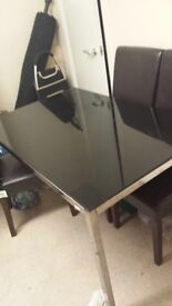 Kitchen table only for 4 people glass brought 3 months ago not used it big for my kitchen is £130