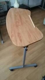 Over arm chair table