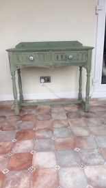 Shabby chic side table.