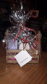 valentines gift crate with handmade wax melts