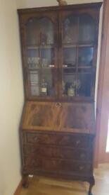 Antique Walnut Burr Secretaire / Bureau/ Desk /CabinetDesk