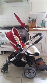 iCandy Peach Pram Travel System & LOADS of Extras in Red/Tomato