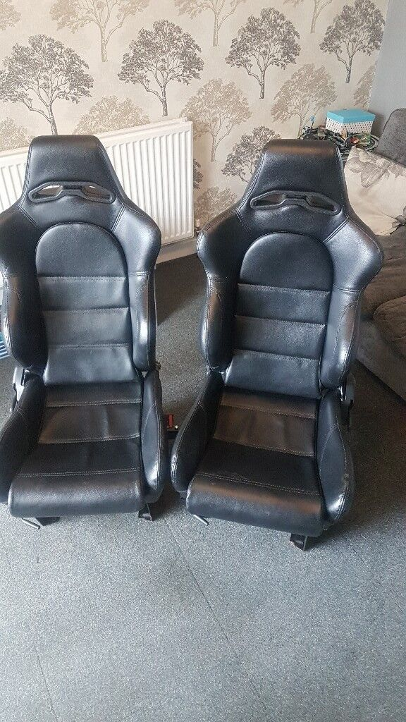Pair leather swivel seats camper van or van | in Bramley, West Yorkshire |  Gumtree