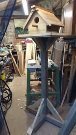 Hand made bird table selling for charity