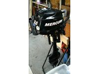 Mercury 3.5hp boat engine for sale