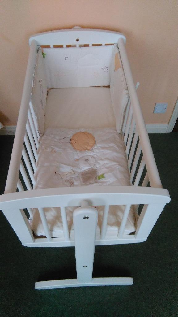 Used Crib Mattress Price Mothercare swinging crib with mattress | in Hull, East ...