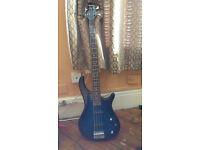 Benson bass guitar dark blue