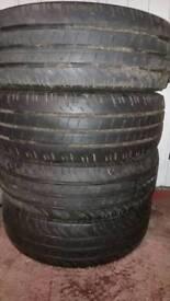 4x Continental Van Tyres 215/60/17 VGC
