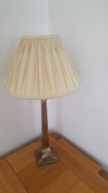 Two Pale Gold Laura Ashley Silk Lampshades
