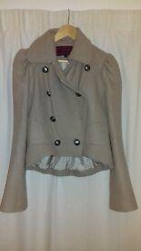 Next beige wool jacket size 10 excellent condition