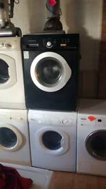 Daewoo black washing machine perfect working order 3 months warranty can deliver
