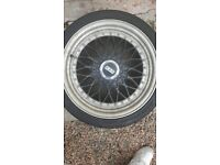 """BBS RS Reps alloy wheels rims 4x100 17"""" multifit 2 new tyres"""