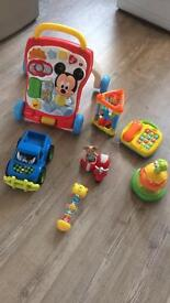 Baby walker and baby Toys
